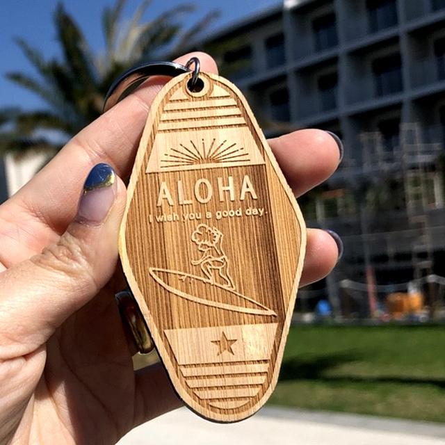 【名入れ無料】【送料無料】 WOOD キータグ 【B】 モーテル キーホルダー 国産竹材使用 バンブー 木製 ウッドキータグ インスタで話題 世界にひとつだけ ペア おそろい