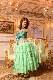 ティアードフリルが素敵なミントグリーン(明るい緑)のドレス