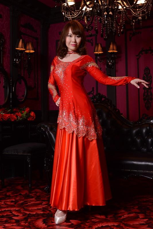 スカーレットレッド(赤)ドレス