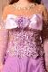三段ティアードスカートのオーキッドパープル(紫)ドレス