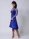 サテンシフォンが美しいロイヤルブルー(濃い鮮やかな青)ドレス