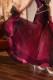 ゴージャスなストーン飾りの鮮やかブラック&ピンクドレス