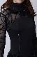 タンゴやパソドブレにぴったりなブラック(黒)の縦羽ドレス