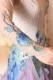 お花のモチーフが可愛いホワイト&ブルードレス(白・青・紫)