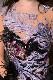 ゴージャス素材の玉手箱ブラック《黒と紫》スワンドレス