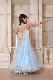 パコダスリーブの愛らしい最新トレンドアイスブルー(薄い青)ドレス