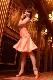 スタイル抜群に魅せるキュートなフレアーシャンパンオレンジドレス