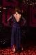 レイヤードネイビー&パープル(濃紺と紫)ドレス