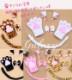 猫耳 カチューシャ 猫爪 手袋 しっぽ付き アニマル変身 メイド 鈴付き 4点セット 5色 コスプレ sh120s 【あす楽対応】(sh120s)