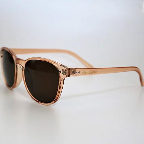chachowl eyewear 2088 Clear Beige Sunglasses (Brown Lens)