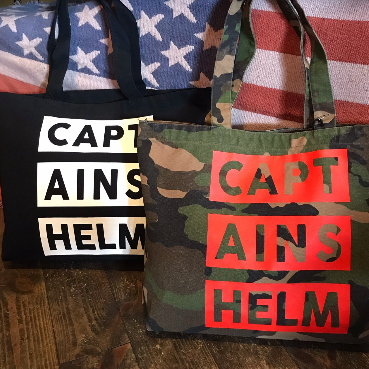 CAPTAINS HELM  #3BAR LOGO TOTE BAG 〜STEADY AND SHAFT LIMITED〜