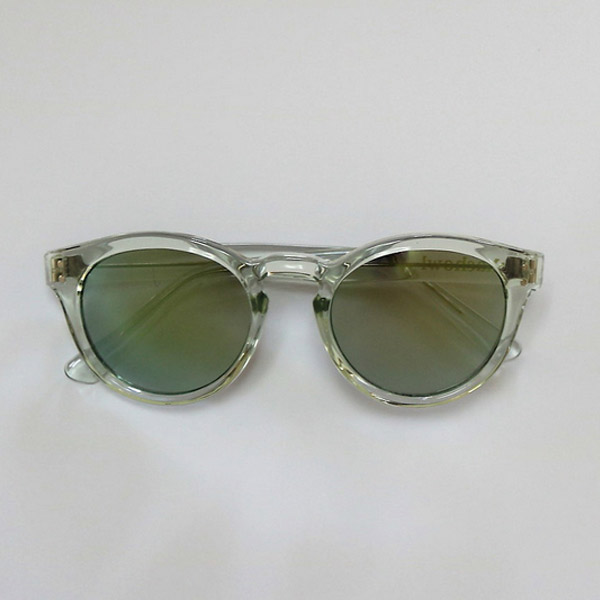 chachowl eyewear  654 Clear Sunglasses (Yellow Mirror)