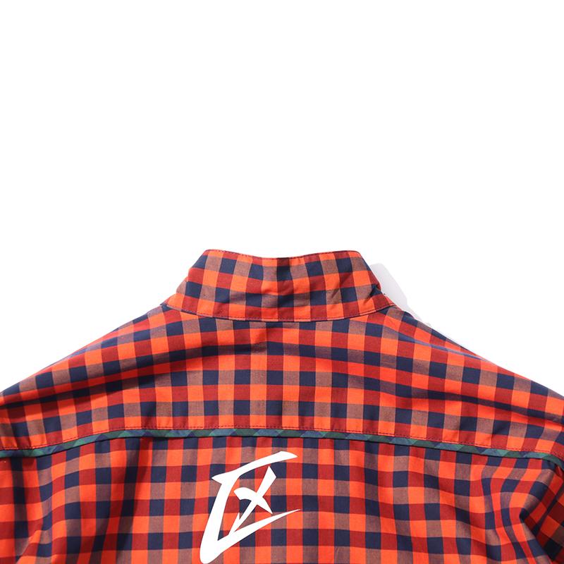 チャイナチェックシャツ