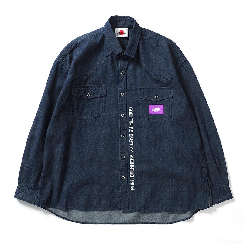 [PDSxLAND by MILKBOY]ブラザーズデニムシャツ