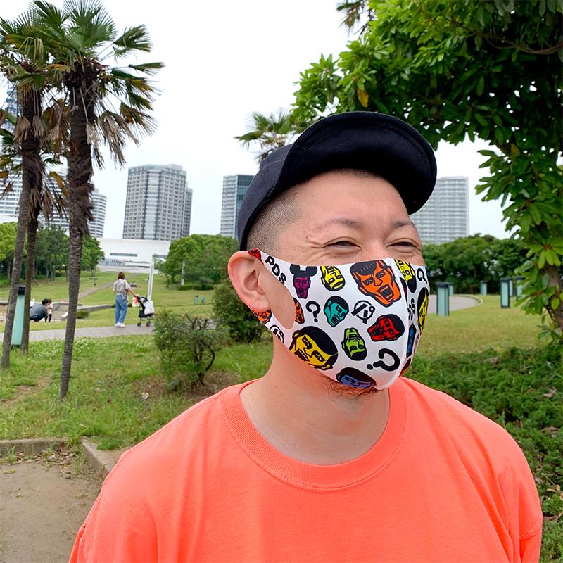 PDSマスク / あいつ総柄