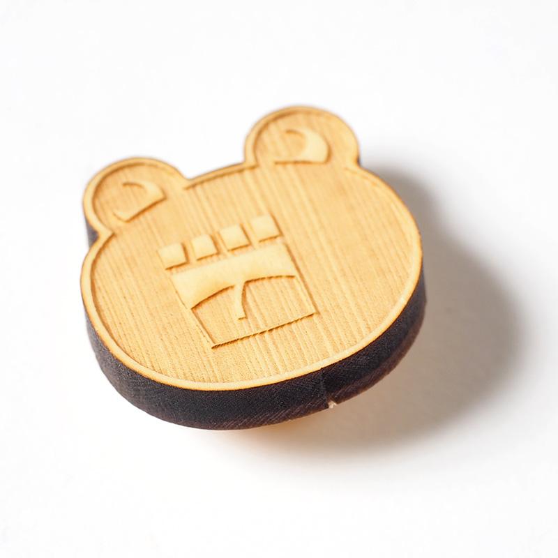 木製イヤリング / おーさん