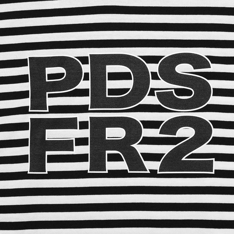 [PDSx#FR2]ウサアイツボーダーL/S TEE / BLACK