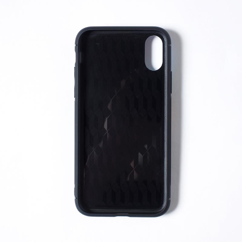 【受注】TEMPERED GLASS iPhone CASE / あいつ福助