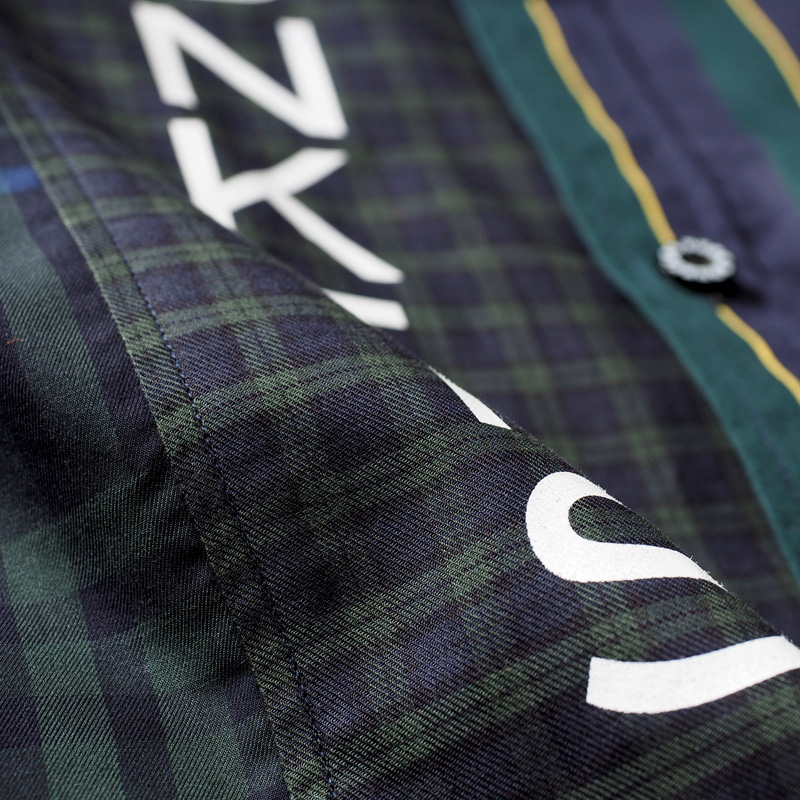 チェックx2 ストライプシャツ