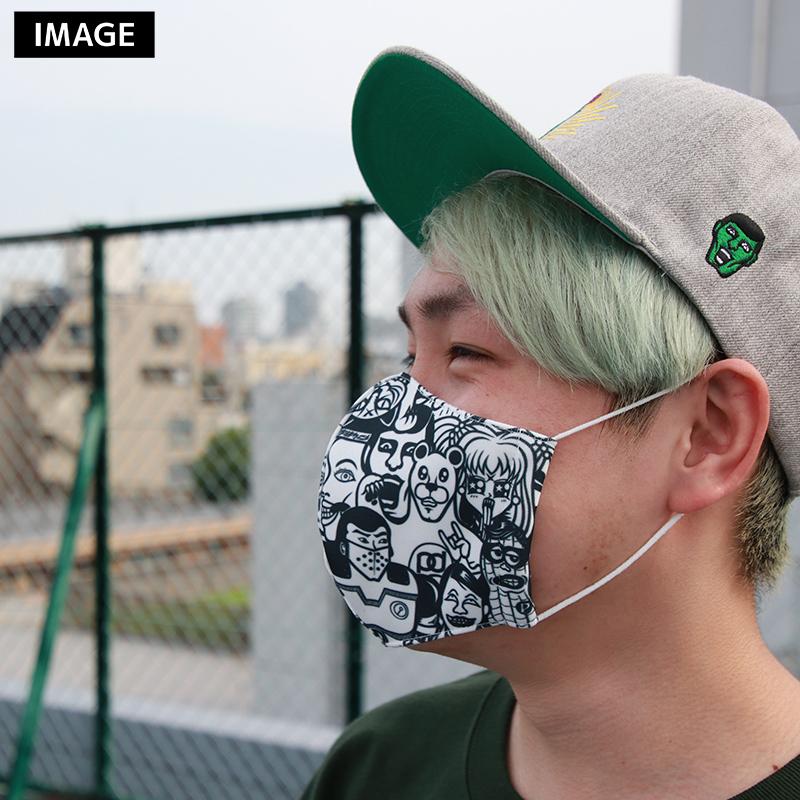 PDS総柄マスク / ニャー