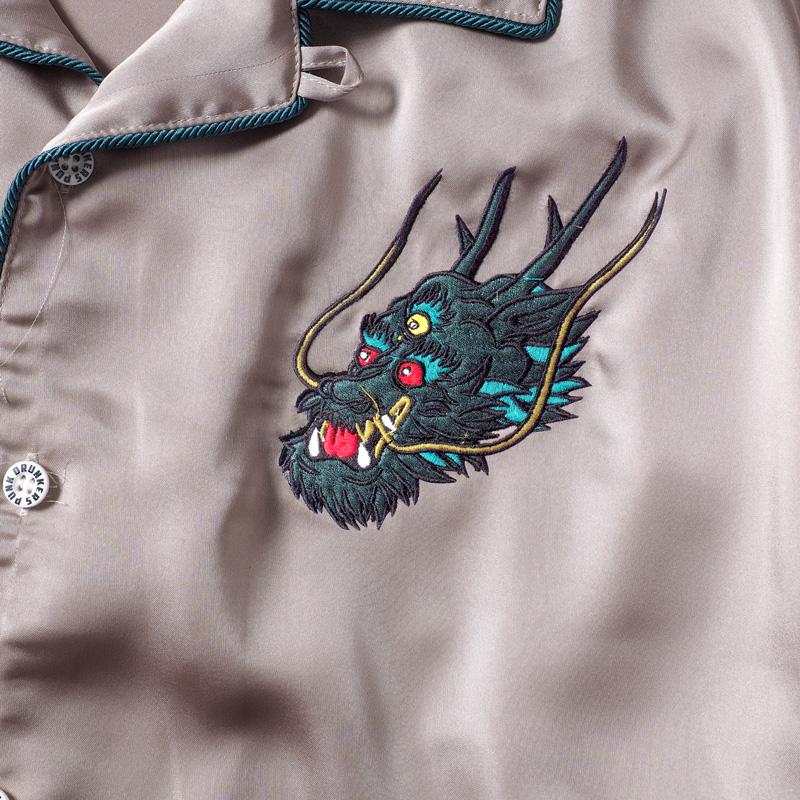 ドラゴン開衿シャツ