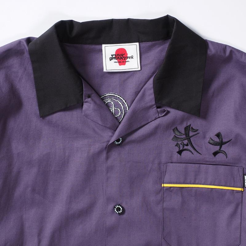 武士開衿刺繍シャツ