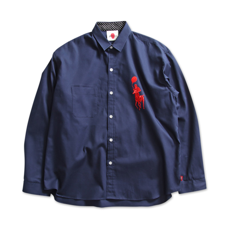 風船オックスシャツ