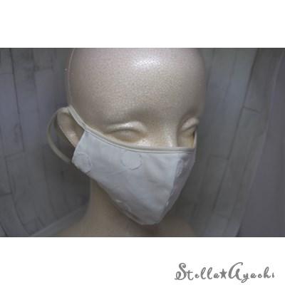 リネン水玉柄マスク