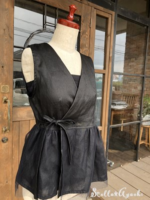 linen and tulle☆カシュクール ベスト