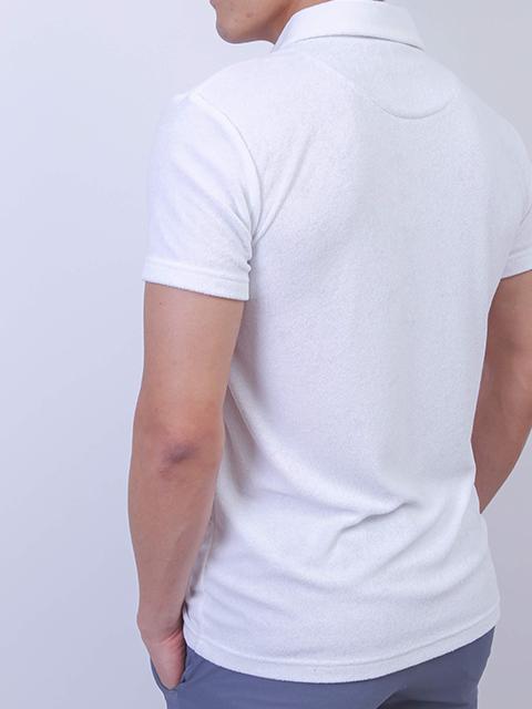 メンズ クールパイルポロシャツ ホワイト
