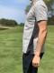 メンズ 鹿の子ボーダーポロシャツ グレー