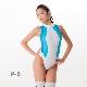 REALISE(リアライズ)【N-0371】競泳水着 コスチューム カラーパネルワンピーススイムスーツ(Wカレンダー加工) 【送料無料】