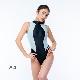 REALISE(リアライズ)【N-0371_big】競泳水着 コスチューム カラーパネルワンピーススイムスーツ(Wカレンダー加工)4Lサイズ 【送料無料】