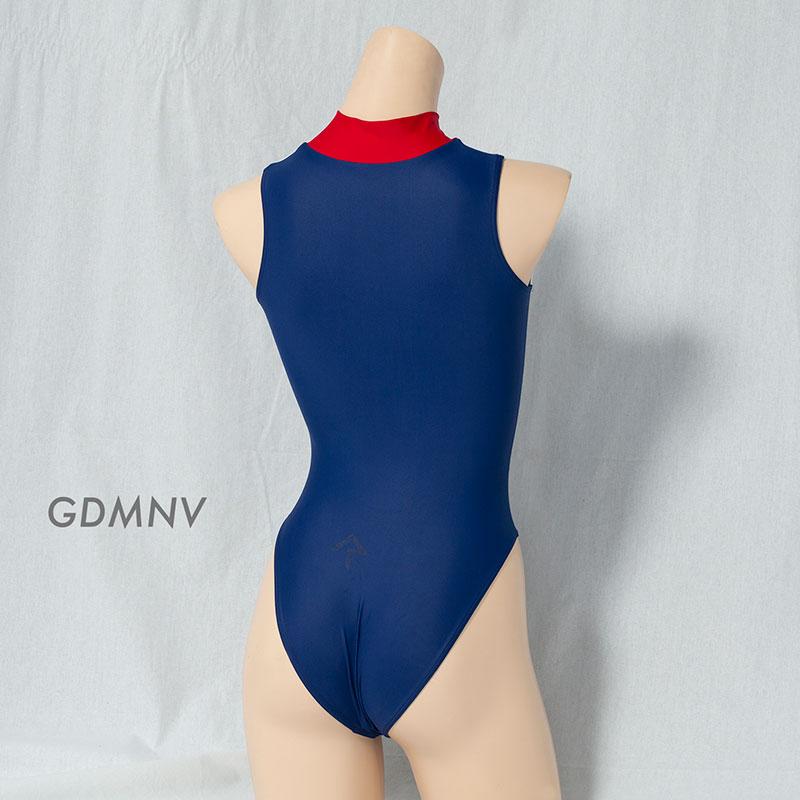 REALISE(リアライズ)【N-0376】競泳水着 コスチューム カラーパネルフロントジッパースイムスーツ(Wカレンダー加工) 【送料無料】