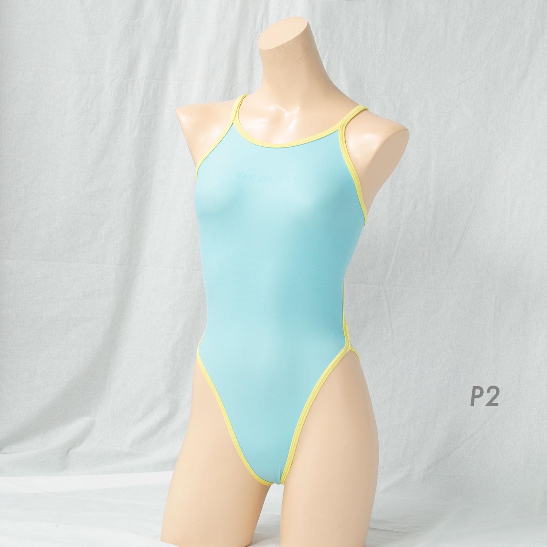 REALISE(リアライズ)【N-0331BCbig】競泳水着 コスチューム バイカラートライアングルバックスイムスーツ /Bicolor Triangle Back Swimsuit(Wカレンダー加工)4Lサイズ 【送料無料】