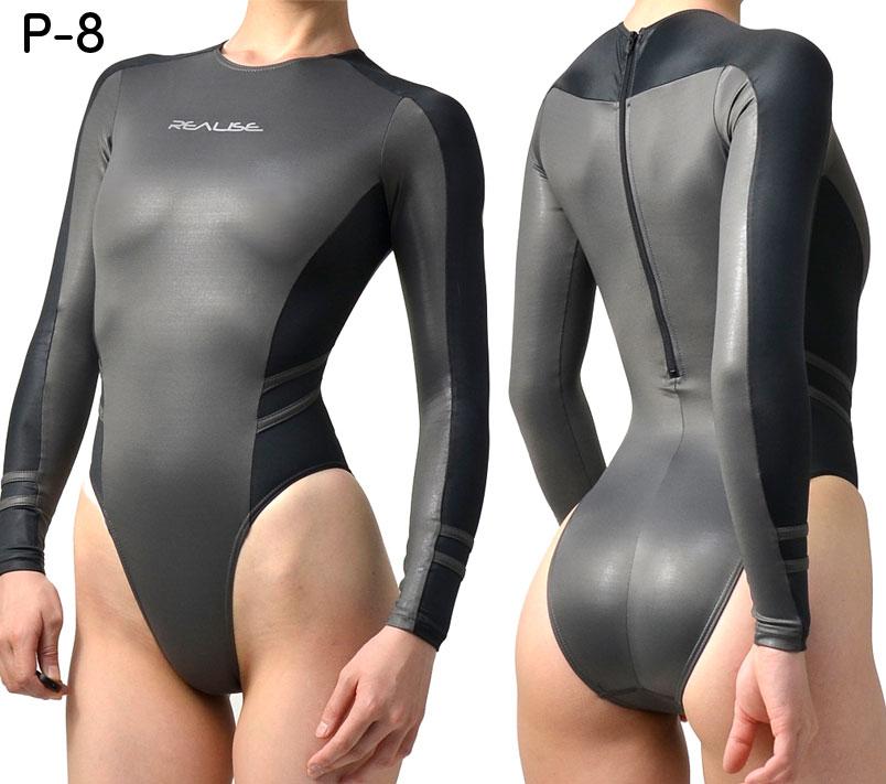 REALISE(リアライズ)N-015 ハイレグ長袖競泳水着 ノーマルバック 極薄素材【送料無料】