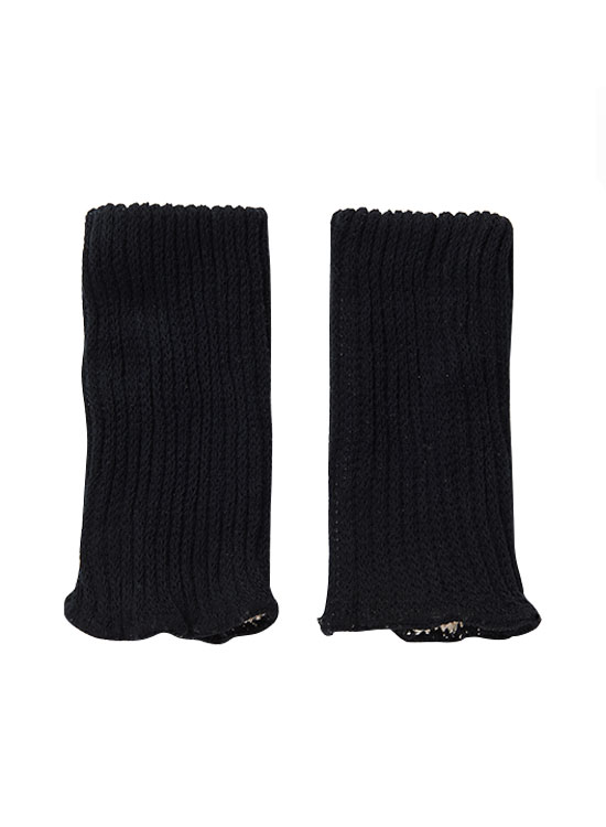 絹と炭のリストウォーマー(ブラック)