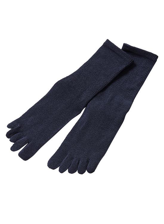 メンズ5本指靴下(ネイビー)