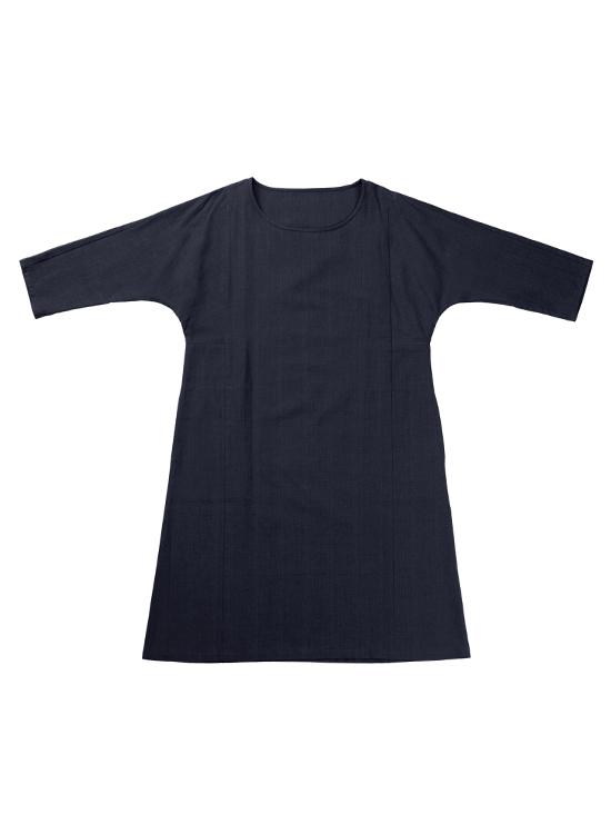 久留米絣 ワンピース(ネイビー)