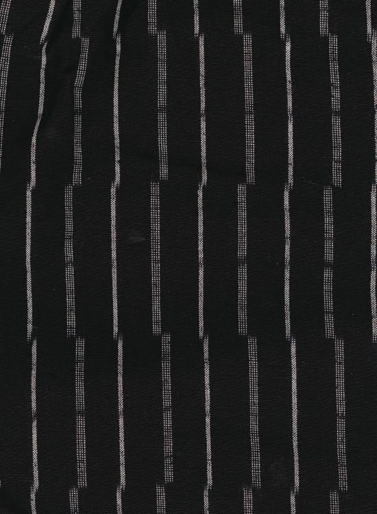久留米絣 もんぺ 厚地(ずらしストライプ/ブラック)