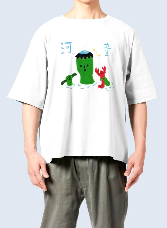 【受注生産】 teco-T (あなたが落としたのは胡瓜とザリガニどちらですかTシャツ)