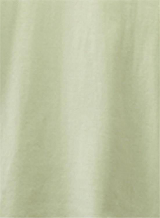 スーピマOG ラウンドネック長袖カットソー(薄グリーン)