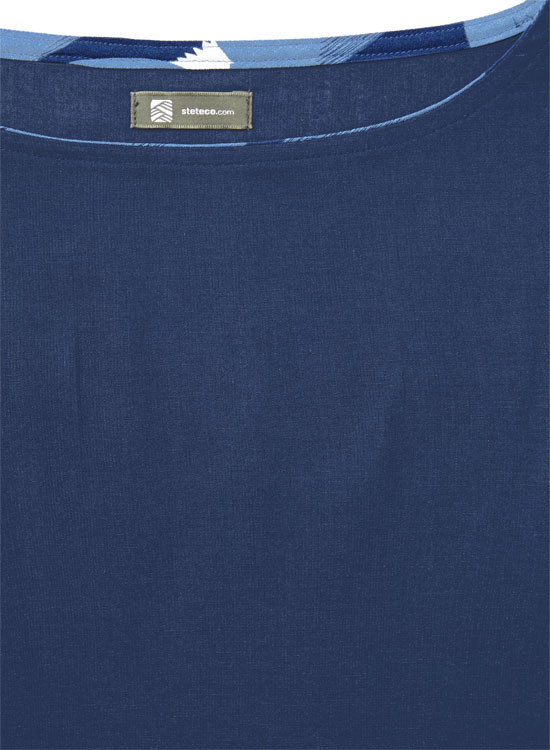ボートネックTシャツ(ネイビー)