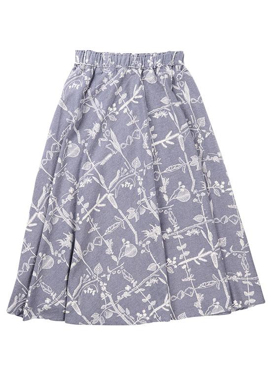 【30%OFF】コラボ ギャザースカート(チャコールグレー)