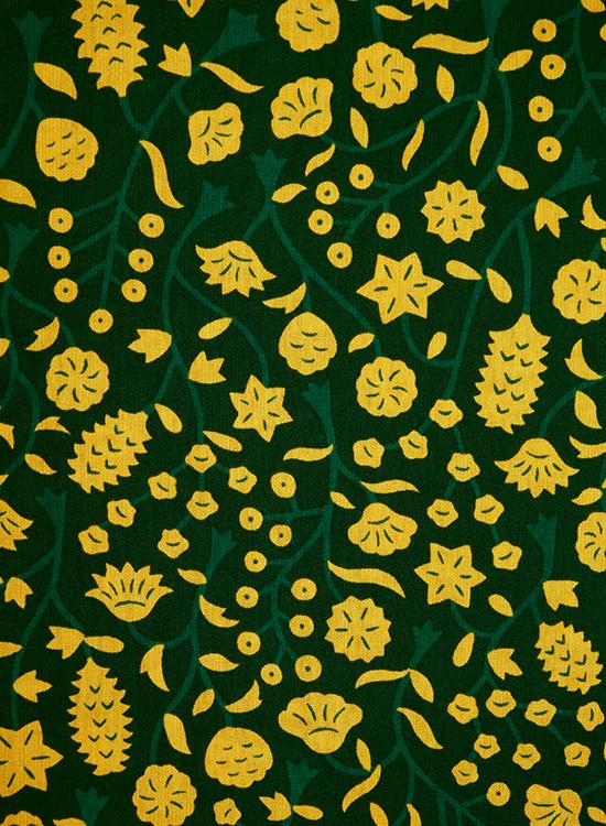 コラボ キッズ ワンピース(黄色い花)