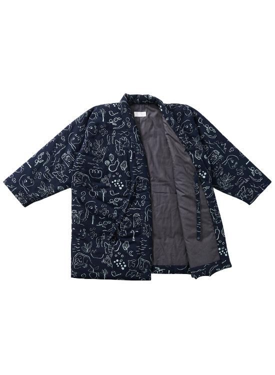 【30%OFF】コラボ 袢天ジャケット(ARCADIA・ネイビー)