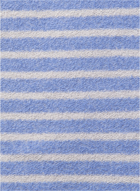 【30%OFF】ソフトパイル 半袖T(ブルー×グレー)