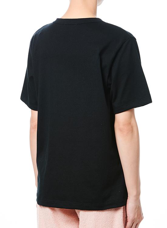 【30%OFF】刺し子Tシャツ(ブラック/菱青海波)