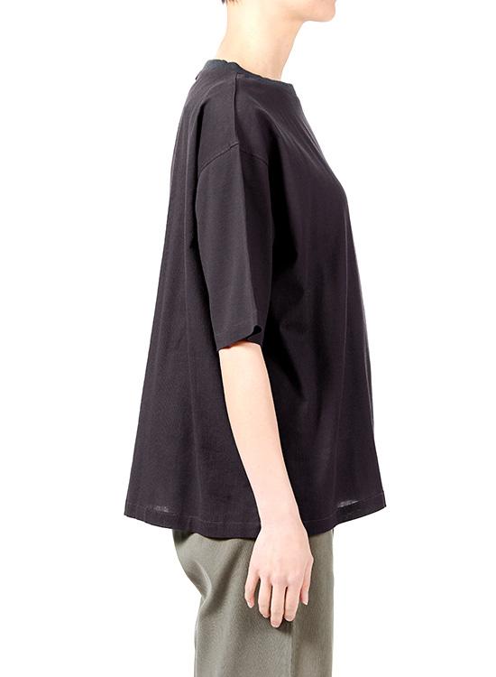 綿ちぢみTシャツ(ネイビー)
