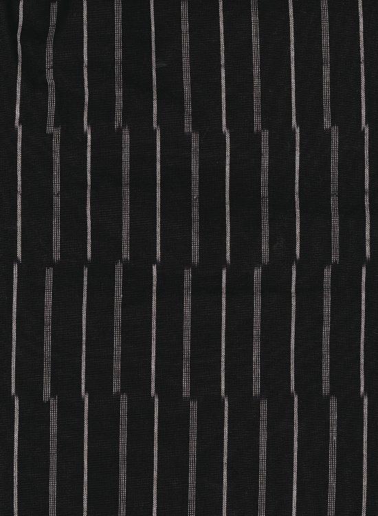 久留米絣 もんぺ(ずらしストライプ/ブラック)